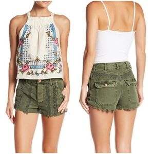 🚨NEW Free People Green Great Expectations Shorts